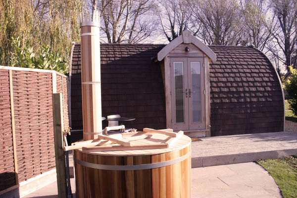 Small wood-fired hot tub